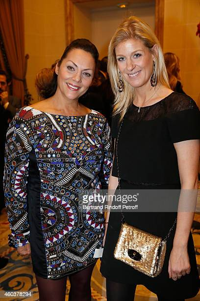 Princesse Hermine de Clermont Tonnerre and Eleonore Lanvin attend The Children for Peace Gala at Cercle Interallie on December 12 2014 in Paris France