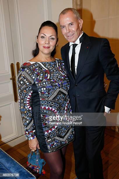 Princesse Hermine de Clermont Tonnerre and Jean Claude Jitrois attend The Children for Peace Gala at Cercle Interallie on December 12 2014 in Paris...