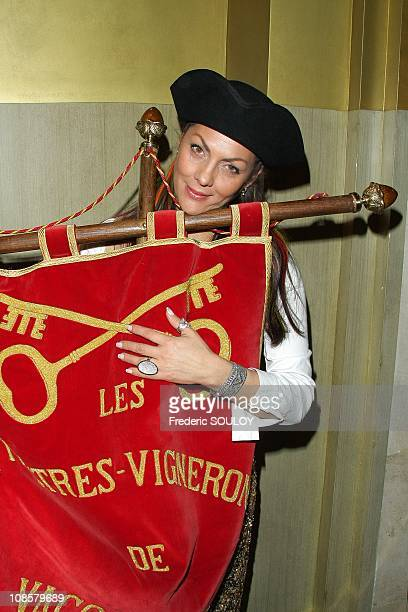 Princesse Hermine de Clermont Tonnerre in Paris France on April 16 2009