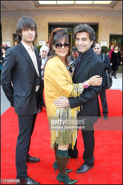 Princesse Hermine De Clermont Tonnerre with Alexandre Zouari and child Andrei at The 16th Amnesty International Musique Contre L'Oubli Concert At...