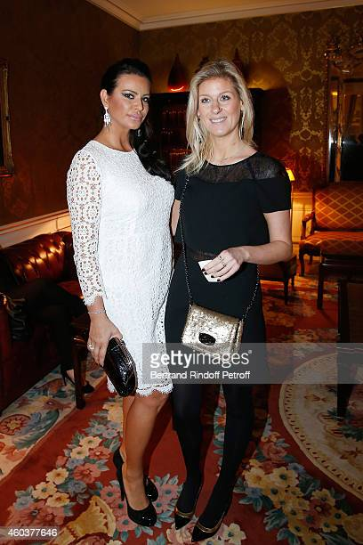 SAR Princesse Kasia Al Thani and Eleonore Lanvin attend The Children for Peace Gala at Cercle Interallie on December 12 2014 in Paris France