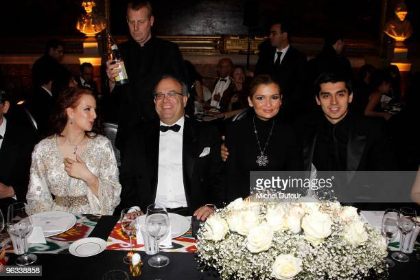 Princesse Lalla Salma of Morocco Prof David Khayat Lola Karomiva and her husband attend the Gala Dinner for Association AVEC at Chateau de Versailles...