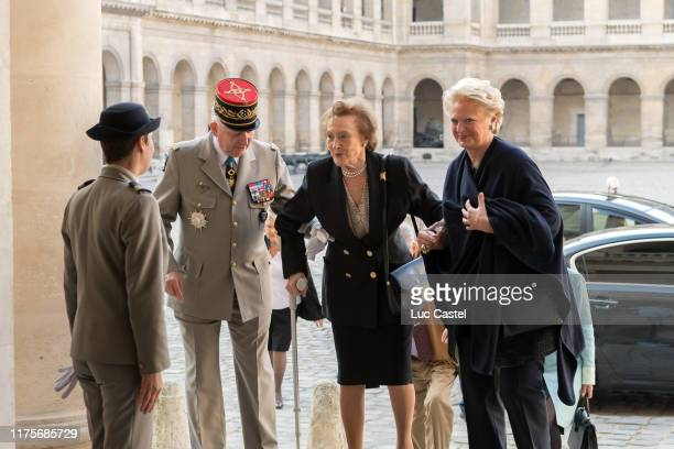 Princesse Napoleon and Beatrice de BourbonSiciles attend the mass given in memory of the emperor Napoleon at Les Invalides on may 05 2017 in Paris...