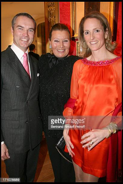 Princesse Philippe De Liechstenstein with the Duc and Duchesse Philipp De Wurttemberg at Dinner Held In Honour Of Princesse De Beauvau Craon The...