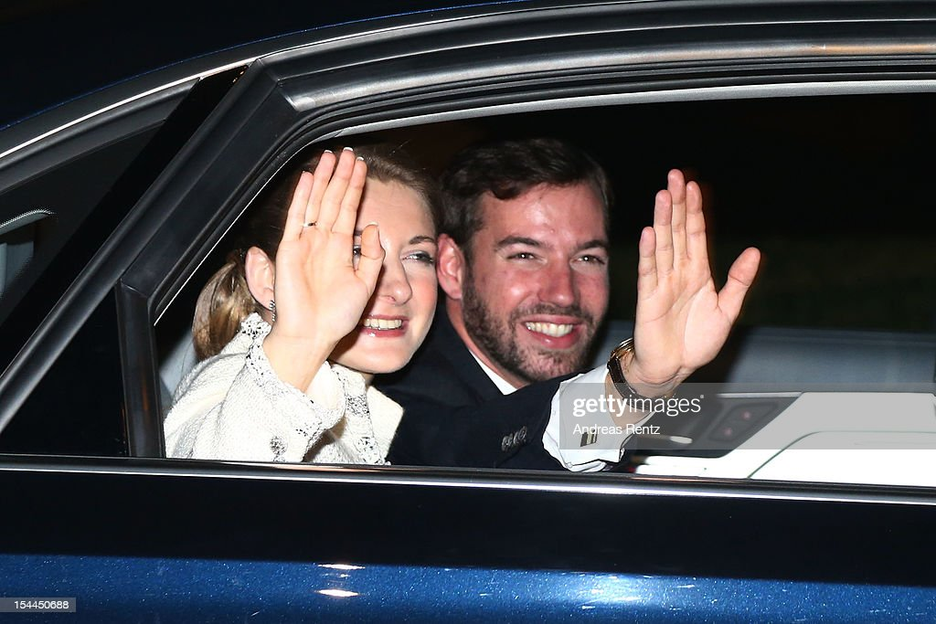 Princesse Stephanie of Luxembourg and Prince Guillaume of Luxembourg leave after their wedding ceremony of Prince Guillaume of Luxembourg and Princess Stephanie of Luxembourg at the Cathedral of our Lady of Luxembourg on October 20, 2012 in Luxembourg, Luxembourg. The 30-year-old hereditary Grand Duke of Luxembourg is the last hereditary Prince in Europe to get married, marrying his 28-year old Belgian Countess bride in a lavish 2-day ceremony.