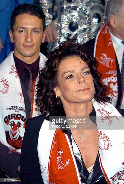 "Princesse Stephanie of Monaco and her husband Adans Lopes Peres an artist from ""The Peres Brothers"" from Portugal, attend 15 January 2004 the 28th..."