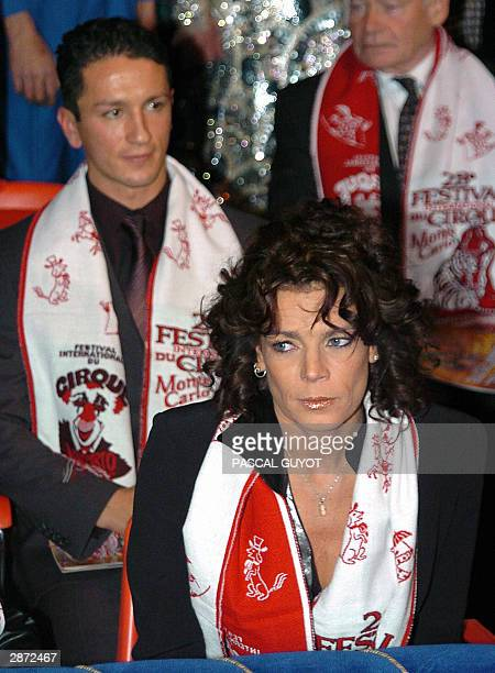 Princesse Stephanie of Monaco and her husband Adans Lopes Peres an artist from The Peres Brothers from Portugal attend 15 January 2004 the 28th...