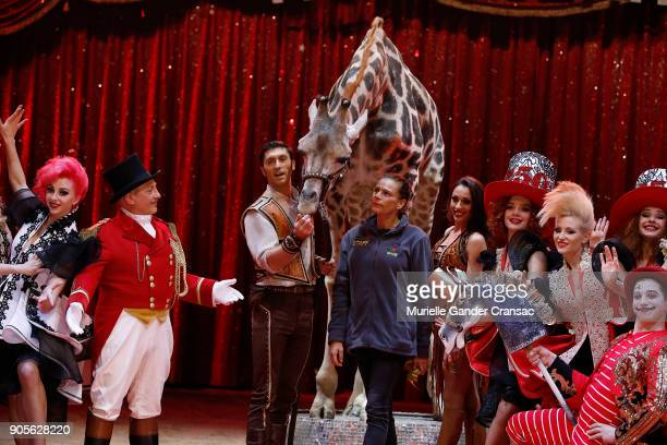 Princesse Stephanie of Monaco attends the 42nd International Circus Festival In MonteCarlo Photocall on January 16 2018 in Monaco Monaco