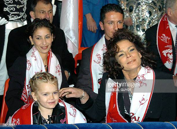 """Princesse Stephanie of Monaco, her daughter Camille , her husband Adans Lopes Peres an artist from """"The Peres Brothers"""" from Portugal, attend 15..."""