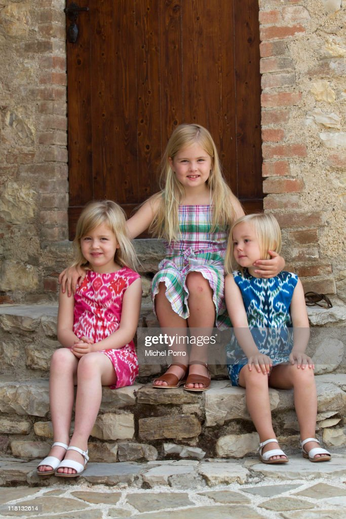Dutch Royal Family - Holiday Photo Session in Tavarnelle