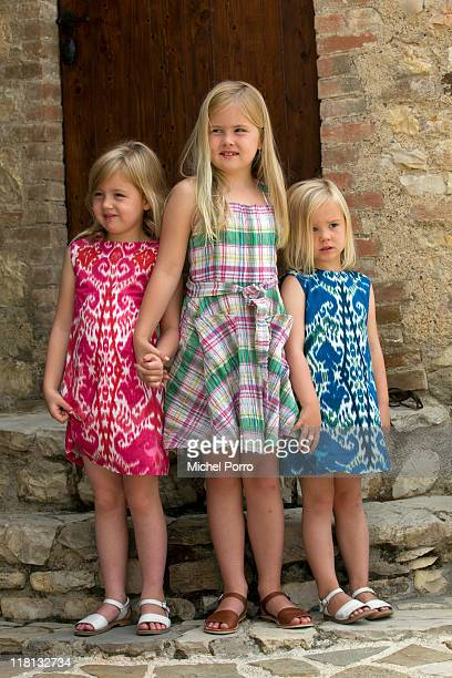 Princesses Alexia CatharinaAmalia and Ariane pose during a photo session on July 4 2011 in Tavernelle Italy
