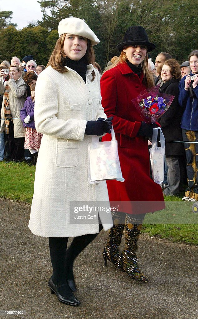 Princesses Beatrice & Eugenie Attend The Christmas Day Service At... News Photo - Getty Images