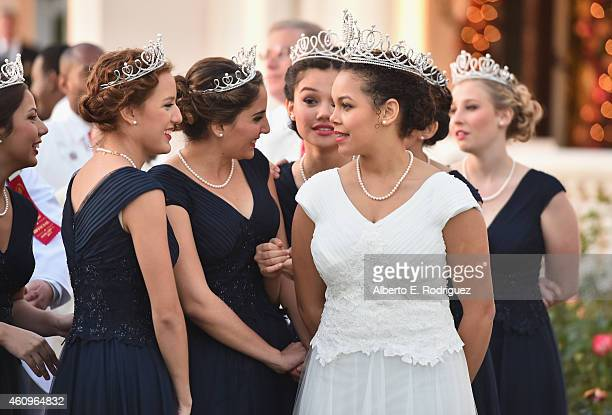 Princesses Emily Alicia Olivas Stoker Veronica Sara Mejia and Mackenzie Joy Byers Queen Madison Elaine Triplett and Princesses Gabrielle Ann Current...