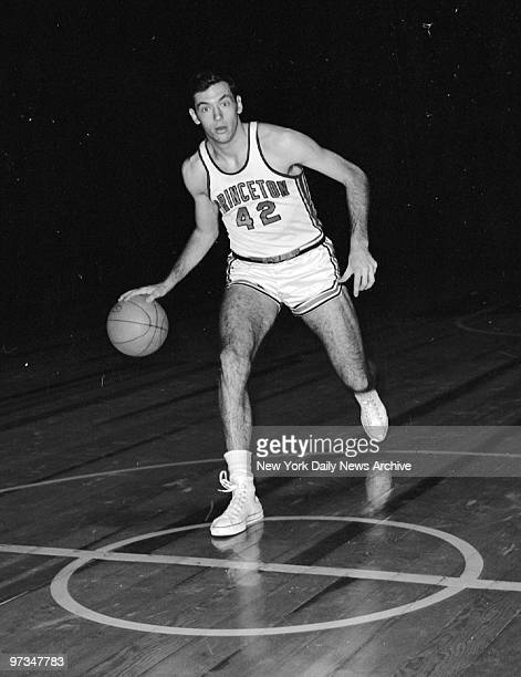 Princeton basketball star Bill Bradley during team practice at Madison Square Garden