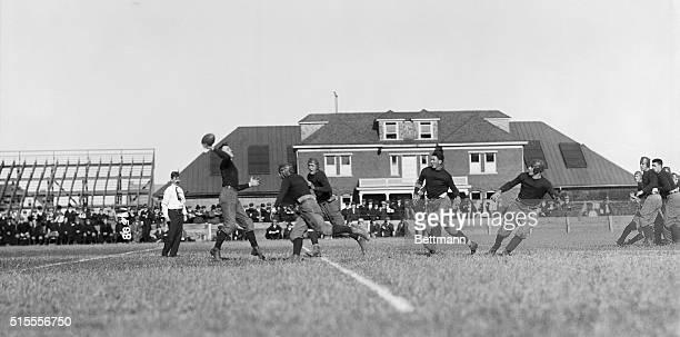 Princeton, New Jersey. Rutgers man making forward pass.