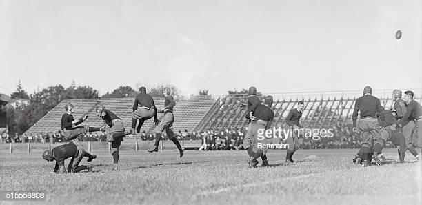 Princeton, New Jersey: Rutgers man making forward pass.