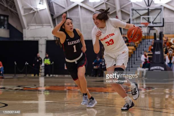 Princeton Tigers forward Lexi Weger during the Ivy League college basketball game between the Harvard Crimson and Princeton Tigers on February 21...