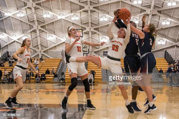 Princeton Tigers guard Gabrielle Rush during the college basketball game between the Penn Quakers and Princeton Tigers on January 5 2019 at Jadwin...