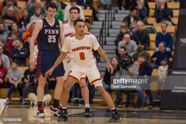Princeton Tigers guard Jaelin Llewellyn during the college basketball game between the Penn Quakers and Princeton Tigers on January 5 2019 at Jadwin...
