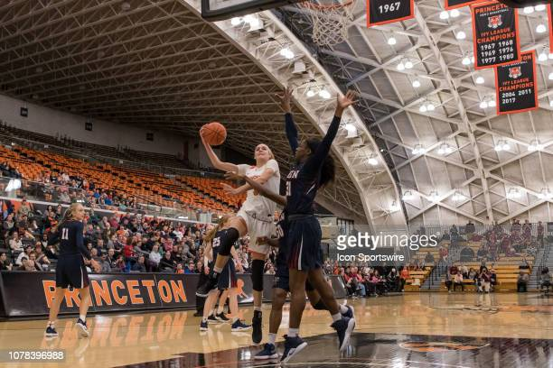 Princeton Tigers guard/forward Bella Alarie during the college basketball game between the Penn Quakers and Princeton Tigers on January 5 2019 at...