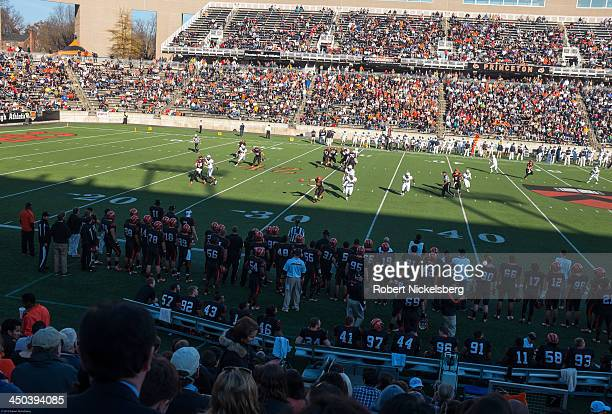 Princeton University football fans and alumni watch a play made by the Princeton team during the 5923 defeat over Yale University in Princeton New...