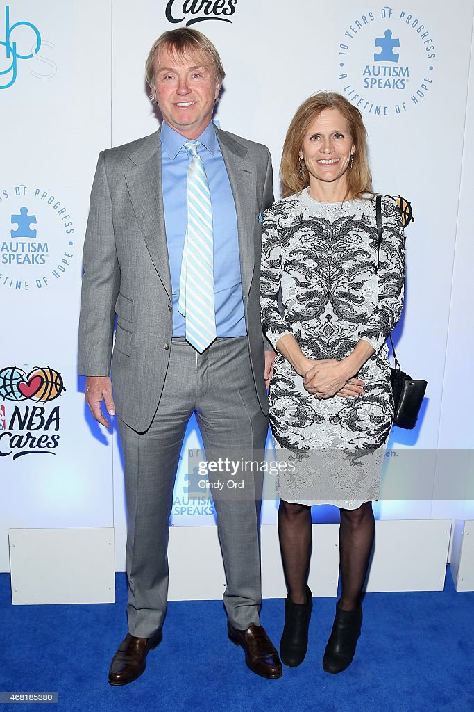 Principal and Founder of Fortress Investment Group, Wesley Edens (L) and Lauren Edens attend the Autism Speaks Tip-off For A Cure 2015 on March 30, 2015 in New York City.