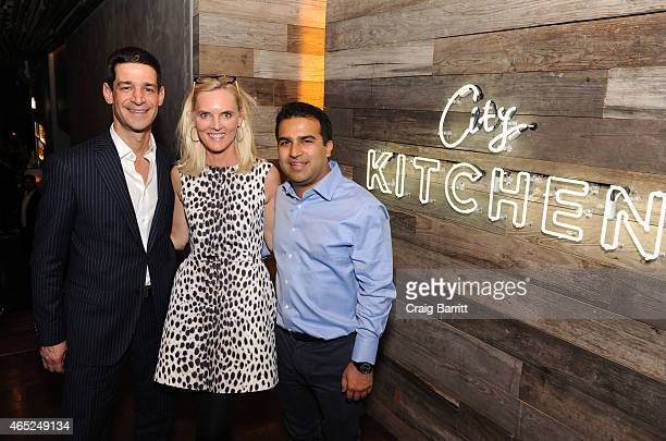 Principal at Highgate Holdings Vann Avedisian Curator and Interior Designer Heidi Avedisian and Neil Luther attend the NY MAG Toast of City Kitchen...