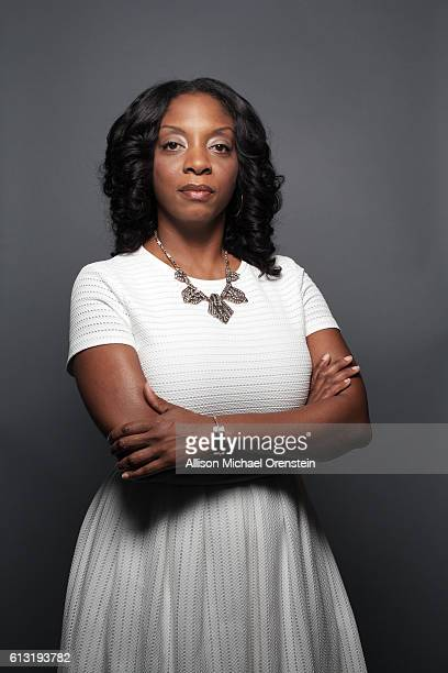 Principal at Mott Hall Bridges Academy Nadia Lopez is photographed for Wall Street Journal on July 27 2016 in the Brownsville section of Brooklyn New...