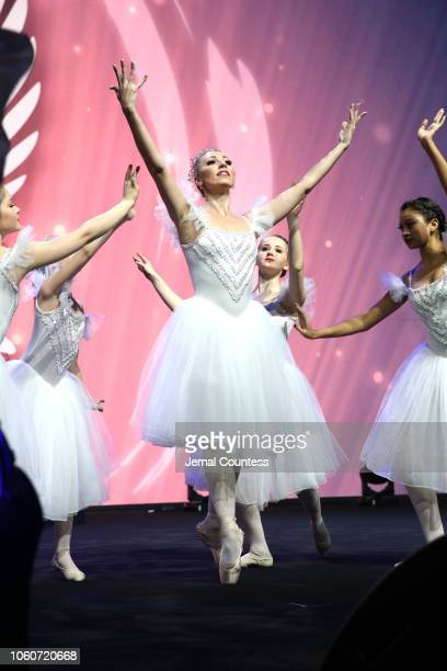 Principal Ballerina Ballet Mistress at Baltimore Ballet Valeria Ivleva performs on stage during Peace Starts With Me concert at Nassau Coliseum on...