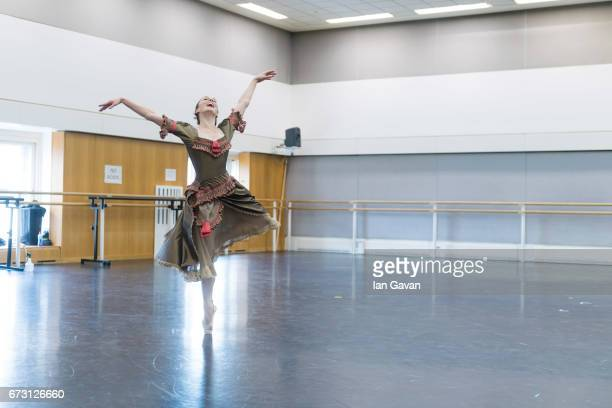 Principal ballerina Natasha Osipova from the Royal Ballet rehearses 'Mayerling' at The Royal Opera House on April 25 2017 in London United Kingdom...