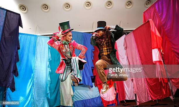 Principal dancer with The Royal Ballet Steven McRae and Turbo from ZooNation are seen during a photocall for two new productions featuring the Mad...