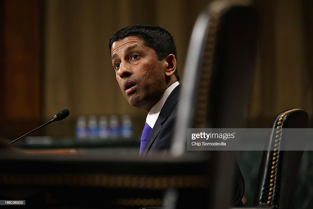 Principal Deputy Solicitor General of the United States Srikanth Srinivasan testifies before the Senate Judiciary Committee on Capitol Hill April 10, 2013 in Washington, DC. U.S. President Barack Obama has nominated Sirnivasan to be circuit judge for the United States Court of Appeals for the District of Columbia Circuit. A significant number of Supreme Court appointees were previously D.C. Circuit Court judges.