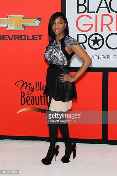Principal Nadia Lopez of Mott Hall Bridges Academy in Brooklyn New York attends the BET's Black Girls Rock Red Carpet sponsored by Chevrolet at NJPAC...