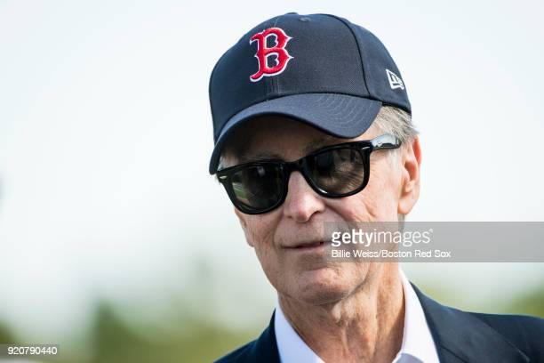 Principal Owner John Henry of the Boston Red Sox looks on during a team workout on February 19 2018 at jetBlue Park at Fenway South in Fort Myers...