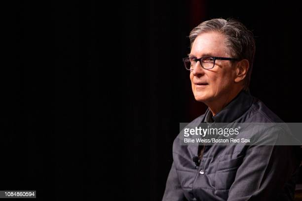Principal Owner John Henry of the Boston Red Sox speaks during a Boston Red Sox Town Hall during the 2019 Red Sox Winter Weekend on January 18, 2019...