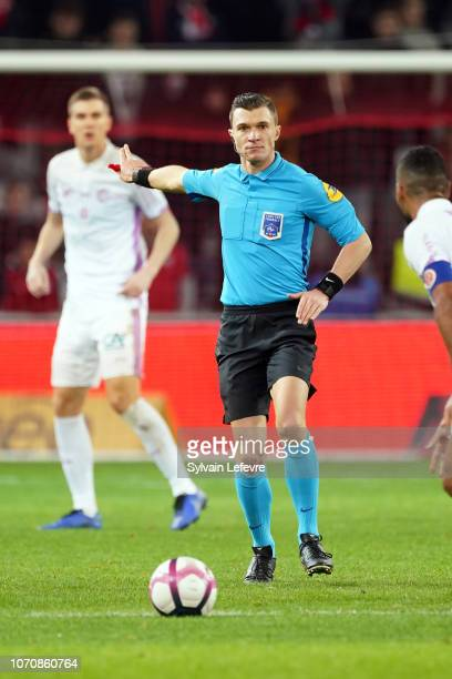 Principal referee Willy Delajod during Ligue 1 match between Lille OSC and Stade de Reims at Stade Pierre Mauroy on December 9 2018 in Lille France
