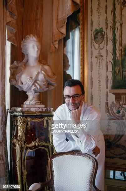 the great French chef Alain DUCASSE at his Monacan restaurant Le Louix XV in MonteCarlo Principauté de Monaco le grand chef cuisinier Alain DUCASSE...