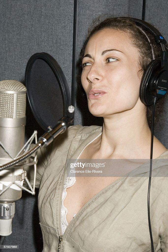 Principle Actress Laura Benanti Sings At The Recording Session For Album Wedding Singer