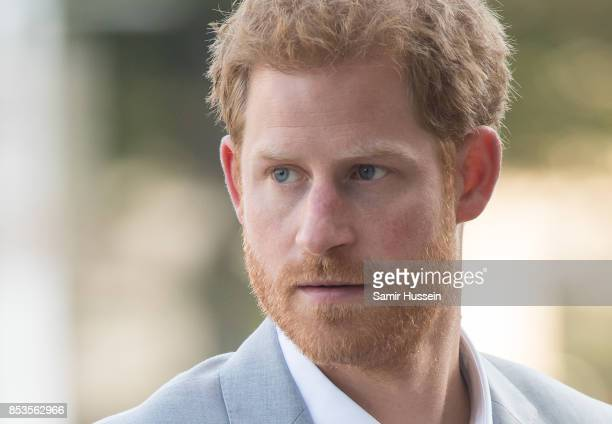 Prine Harry visits the Canadian Institute for Military and Veterans Mental Health Research conference on day 3 of the Invictus Games Toronto 2017 on...