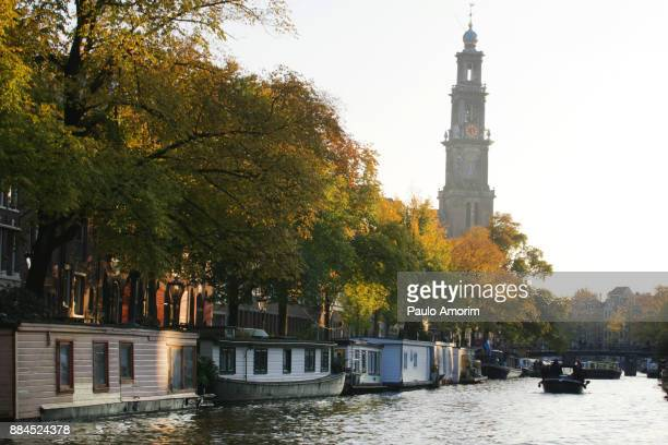 Prinsengracht canal  during Autumn in Amsterdam