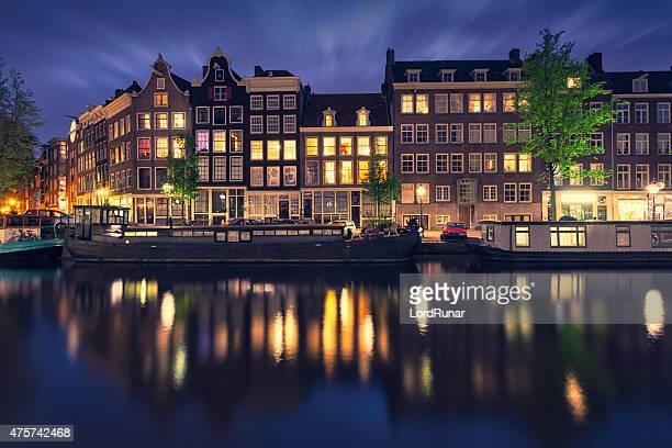 Prinsengracht canal à Amsterdam, Pays-Bas
