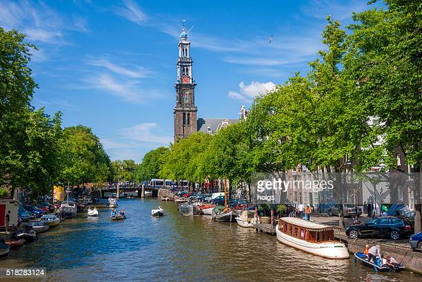 Prinsengracht Canal in Amsterdam, The Netherlands