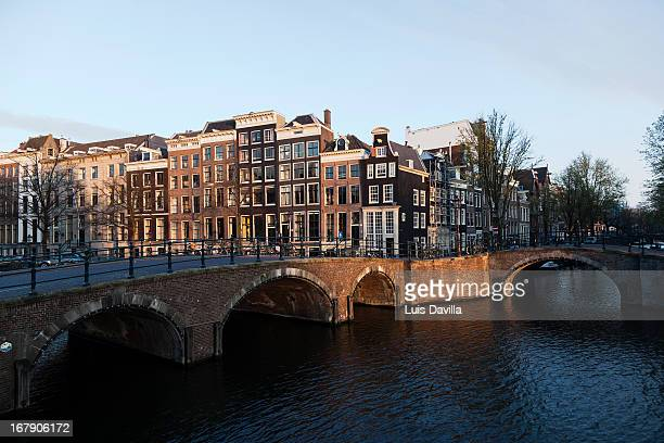 prinsengracht in old town. amsterdam
