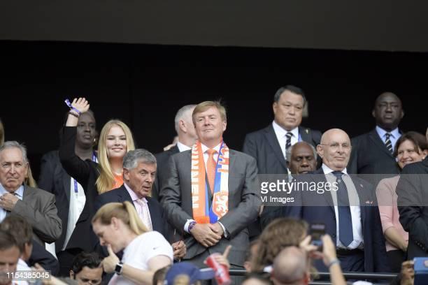 Prinses Amalia en Koning Willem Alexander van Oranje, Michael van Praag during the FIFA Women's World Cup France 2019 final match between United...