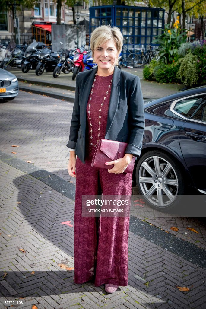 Prinsess Laurentien of The Netherlands during the award ceremony of the most influential player in the Dutch philanthropy 2017-2018 organized by De Dikke Blauwe in Societeit de Witte on October 3, 2017 in The Hague, Netherlands. Princess Laurentien is founder of the Missing Chapter foundation that gives children a voice in social issues.