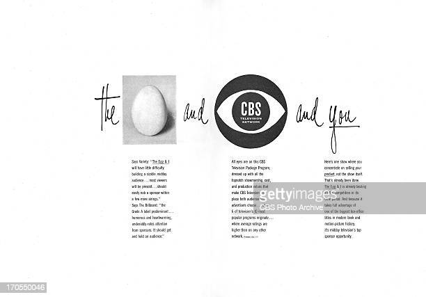 CBS print advertisement attributed to art director and designer William Golden titled 'The Egg and I and You' The ad scheduled to print in...