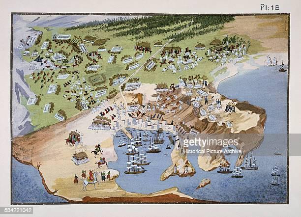 Print after Battle of Piraeus Port near Athens by Panagiotis Zografos