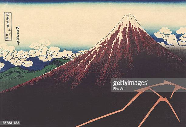 A print by Hokusai from the series ThirtySix Views of Mount Fuji
