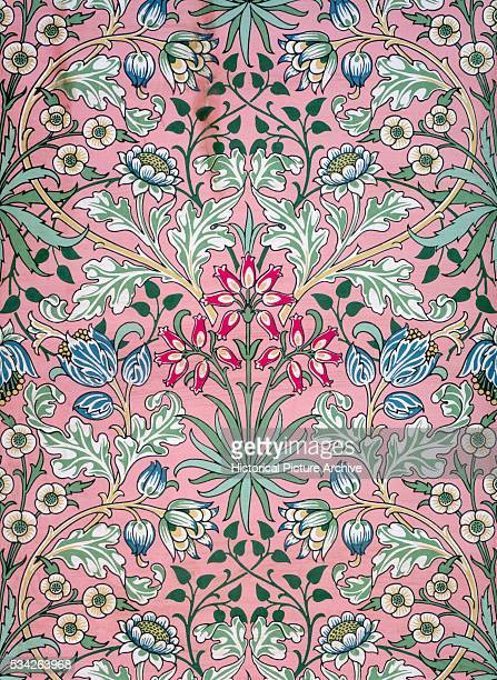 A print by JH Dearle of William Morris' Hyacinth wallpaper design