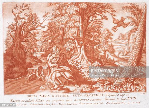 Print Depicting Ravens Feeding Elijah